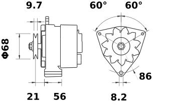 Генератор AAK1115 (IA0069) - схема