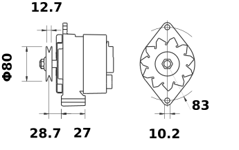Генератор AAG1310 (MG 462, 11.201.095, IMA301095) - схема