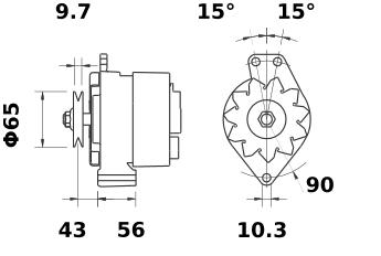 Генератор AAK1150 (IA0145) - схема