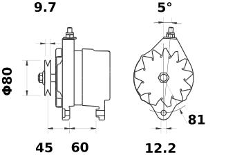 Генератор AAK4127 (MG 280, 11.201.293, IMA301293) - схема