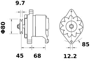 Генератор AAK4140 (MG 150, 11.201.306, IMA301306) - схема