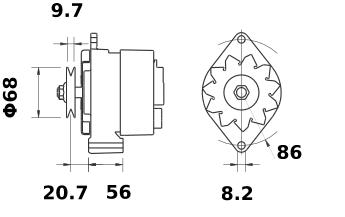 Генератор AAK3130 (MG 396, 11.201.928, IMA301928) - схема