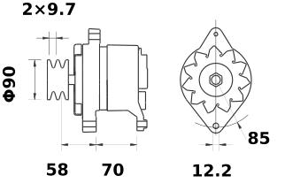 Генератор AAK4155 (MG 521, 11.201.329, IMA301329) - схема