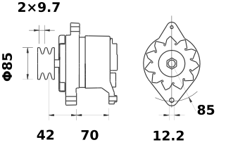 Генератор AAK4156 (MG 524, 11.201.330, IMA301330) - схема