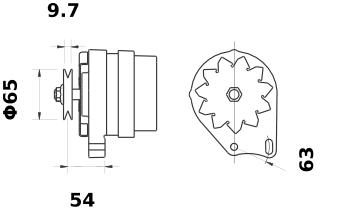 Генератор AAK4167 (MG 112, 11.201.347, IMA301347) - схема