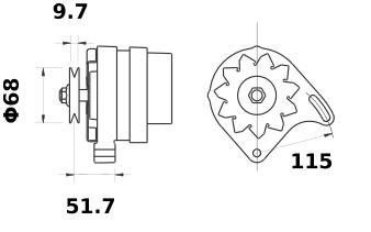 Генератор AAK4177 (MG 205, 11.201.358, IMA301358) - схема