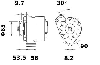 Генератор AAK4195 (MG 533, 11.201.393, IMA301393) - схема