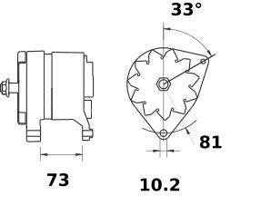 Генератор AAK3537 (IA0431) - схема