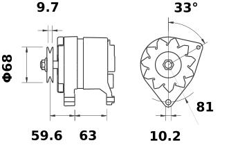 Генератор AAK3538 (IA0432) - схема