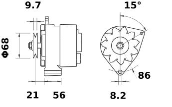 Генератор AAK3553 (MG 187, 11.201.446, IMA301446) - схема