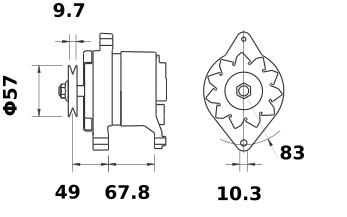 Генератор AAK3565 (MG 190, 11.201.469, IMA301469) - схема