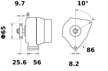 Генератор AAK5105 (MG 534, 11.201.498, IMA301498) - схема