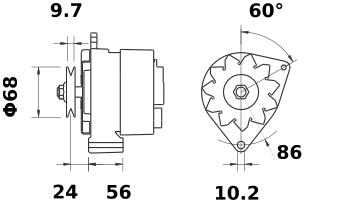 Генератор AAG1340 (MG 282, 11.201.502, IMA301502) - схема