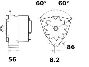 Генератор AAK1352 (MG 260, 11.201.574, IMA301574) - схема