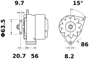 Генератор AAK3510 (IA0611) - схема