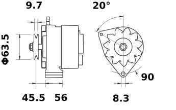 Генератор AAK4544 (IA0664) - схема