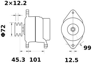 Генератор AAK5120 (MG 103, 11.201.708, IMA301708) - схема