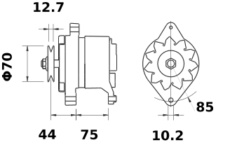Генератор AAK1373 (MG 86, 11.201.717, IMA301717) - схема