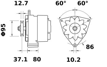 Генератор AAK1374 (MG 158, 11.201.722, IMA301722) - схема