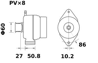 Генератор AAK5123 (MG 414, 11.201.727, IMA301727) - схема