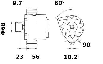 Генератор AAK4579 (IA0733) - схема