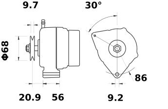 Генератор AAK5124 (MG 434, 11.201.737, IMA301737) - схема