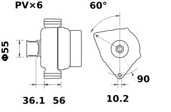 Генератор AAK5127 (MG 248, 11.201.744, IMA301744) - схема