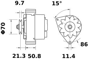 Генератор AAK3335 (MG 149, 11.201.940, IMA301940) - схема