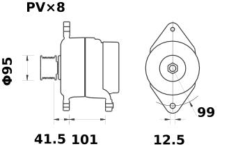 Генератор AAK5715 (IA0762) - схема