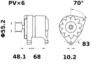Генератор AAK4587 (IA0767) - схема