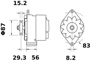 Генератор AAG1343 (MG 438, 11.201.784, IMA301784) - схема