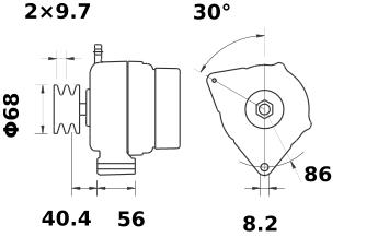 Генератор AAK5145 (MG 359, 11.201.800, IMA301800) - схема