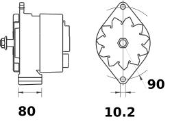 Генератор AAK1398 (IA0801) - схема