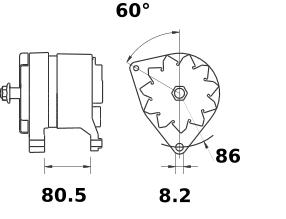 Генератор AAK4598 (MG 212, 11.201.810, IMA301810) - схема