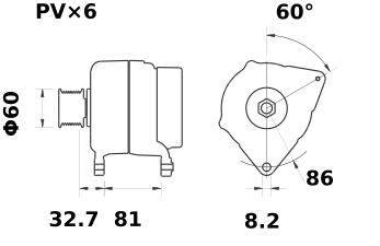 Генератор AAK5148 (MG 105, 11.201.815, IMA301815) - схема