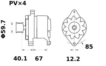 Генератор AAK3101 (11.201.834, IMA301834) - схема