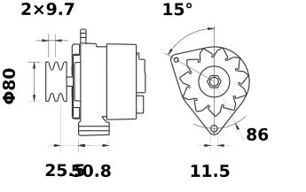 Генератор AAK3337 (IA0854) - схема