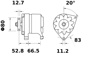 Генератор AAK3119 (IA0883) - схема