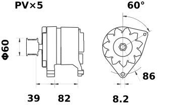 Генератор AAK3123 (IA0891) - схема