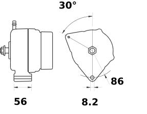 Генератор AAK5364 (11.203.099, IMA303099) - схема