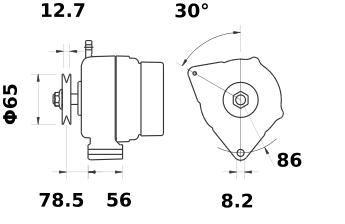 Генератор AAK5184 (IA0960) - схема