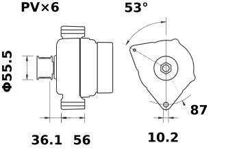 Генератор AAK5186 (MG 418, 11.201.963, IMA301963) - схема