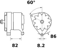 Генератор AAK4345 (MG 541, 11.203.393, IMA303393) - схема