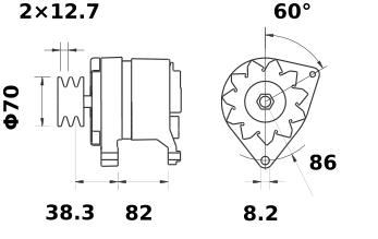 Генератор AAK4344 (IA0984) - схема