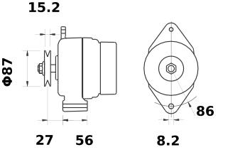 Генератор AAK5197 (MG 251, 11.201.989, IMA301989) - схема