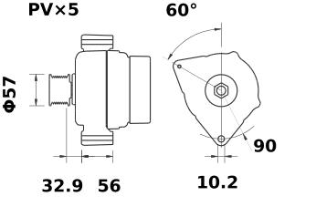 Генератор AAK5311 (MG 48, 11.203.010, IMA303010) - схема