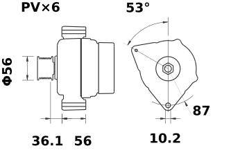 Генератор AAK5309 (IA1036) - схема