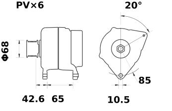 Генератор AAK5371 (11.203.135, IMA303135) - схема