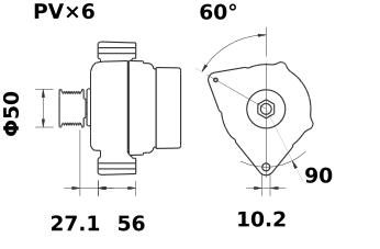 Генератор AAN5309 (MG 570, 11.204.150, IMA304150) - схема