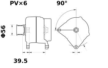 Генератор AAK5346 (IA1061) - схема